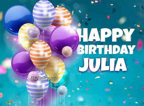 julia birthday balloons happy birthday