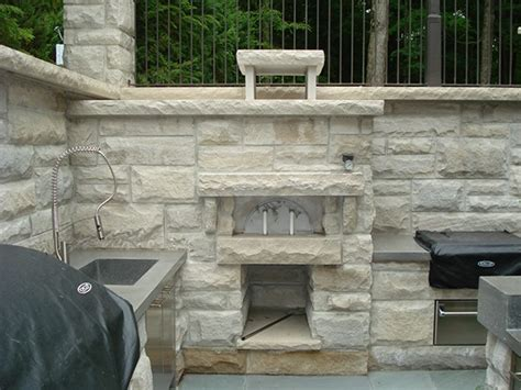 limestone masonry for outdoor kitchen pizza oven on behance