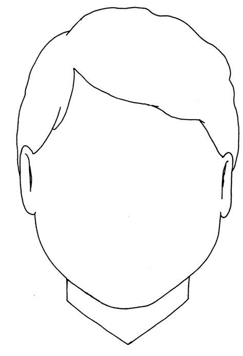templates for drawing faces blank boy face colouring coloring pages quoteko