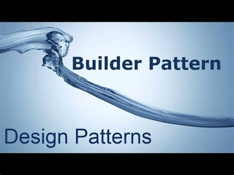 builder design pattern youtube design patterns the builder pattern in 5 minutes youtube