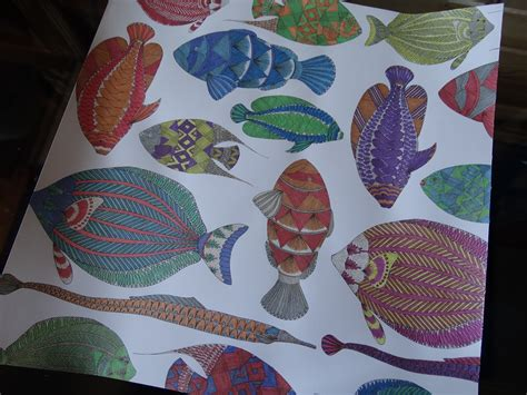 multiple fish coloring page paper cut screams by cheryl my multiple fish coloring project