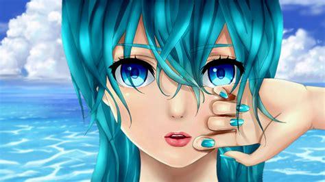 anime on beach anime girl at beach by 100csilla on deviantart