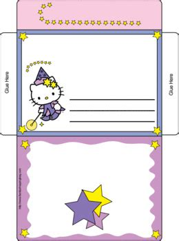 hello kitty letter envelope 2 invitations printables