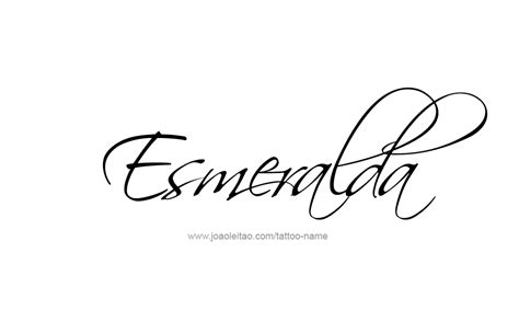 esmeralda name tattoo designs
