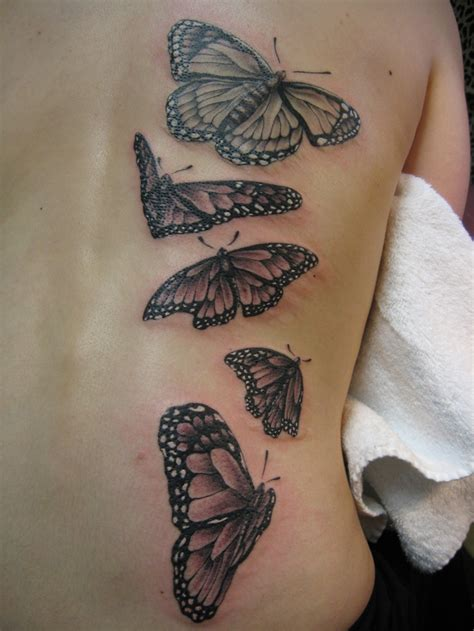 black and grey butterfly tattoo designs black and gray monarch butterflies by fortier at