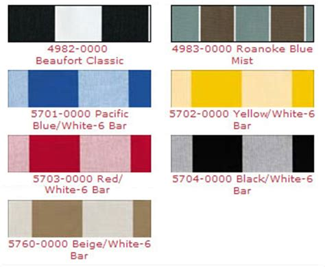 awning colors fabric choices southeast awnings