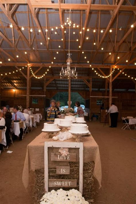 Country Wedding Reception Decorations Rustic Wedding Cake Table Chic Southern Designs
