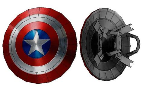 Captain America Papercraft - marvel comics size captain america s shield for