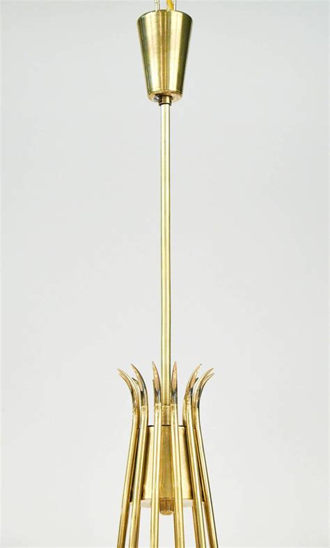 Modern Brass Chandelier Italian Mid Century Modern Brass Chandelier For Sale At 1stdibs