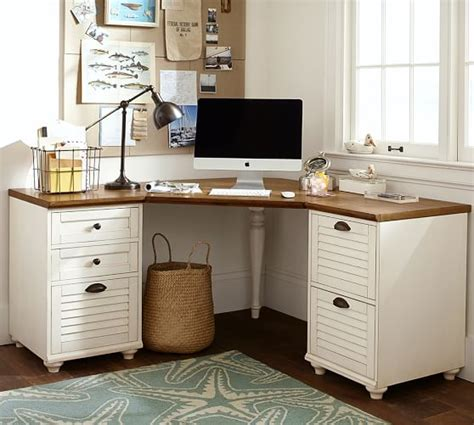 pottery barn corner desk whitney corner desk set seadrift pottery barn