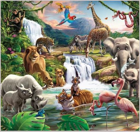 childrens bedroom wall murals uk image gallery jungle wallpaper for