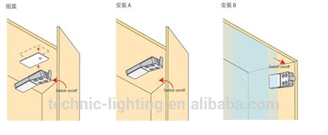 cabinet door operated light switch battery powered led cabinet light with door switch buy