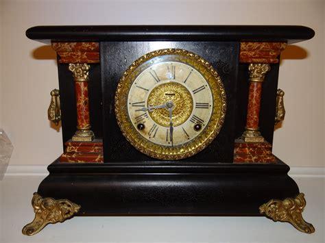 Shelf Clocks Antique by Antique E Ingraham Co Wood Mantel Clock Antiques Of