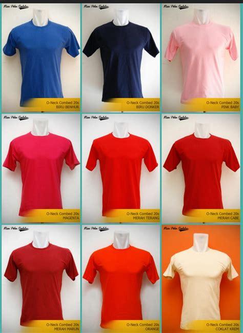 Combed Berbagai Warna memilih kaos polos yang paling sesuai untuk sablon kaos