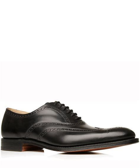 wing oxford shoes lyst church s black new york punched wing oxford shoes
