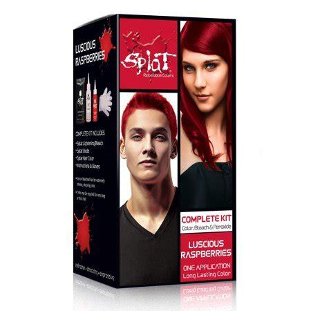 hair dye colors walmart splat semi permanent bold hair color kit walmart
