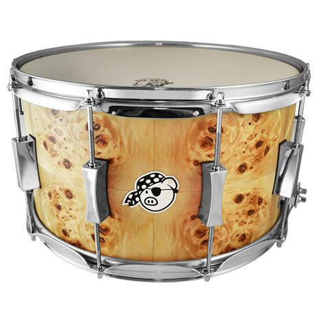 pork pie percussion 8 quot x 14 quot maple snare drum with mappa