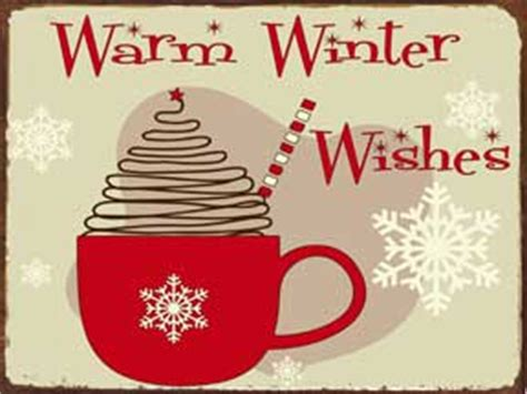 Warm Winter Wishes   Original Metal Sign Company