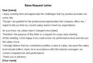 raise request letter writing professional letters
