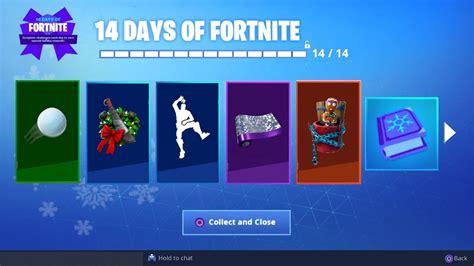 days  fortnite gifts unlocked fortnite