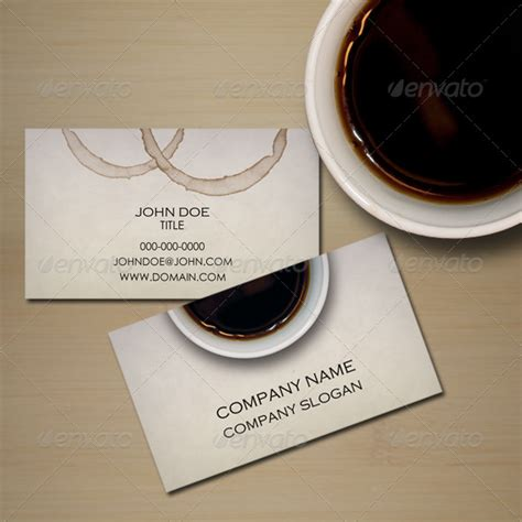 coffee business card graphicriver