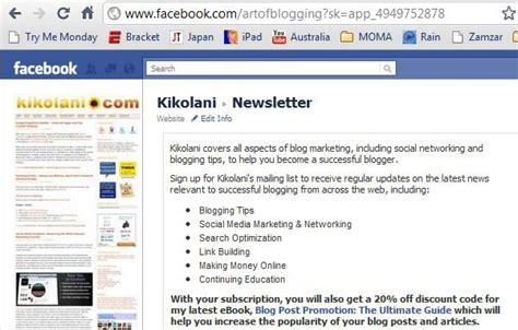 facebook fan page promotion blog 55socialmediablog s journal