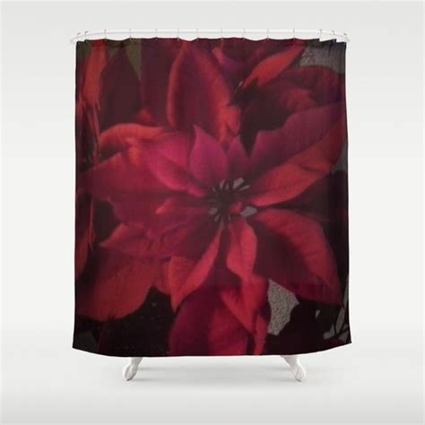 poinsettia shower curtain poinsettia shower curtain d products and showers