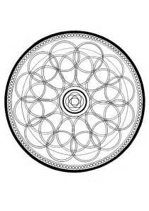 Mandala Circles Coloring Pages circle mandala coloring pages hellokids