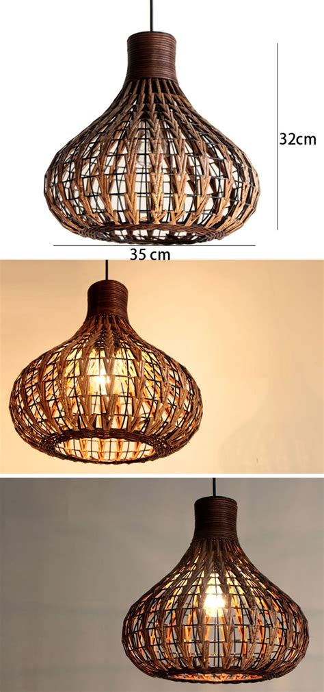 rattan pendant light fixtures southeast asia rattan garlic dining room ceiling pendant