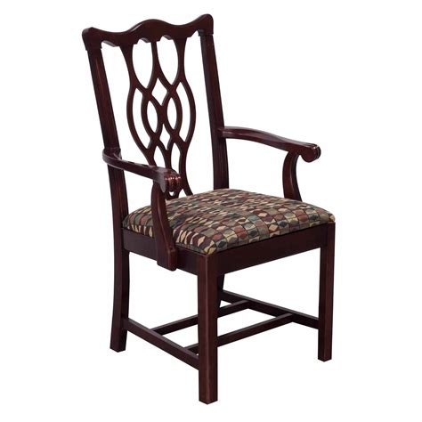 bernhardt eaton square used wooden arm chair mahogany