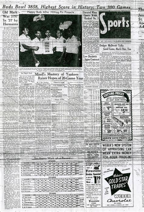 St Louis Post Dispatch Sports Section by Zettwoch S Suitcase Of The Budweisers History S