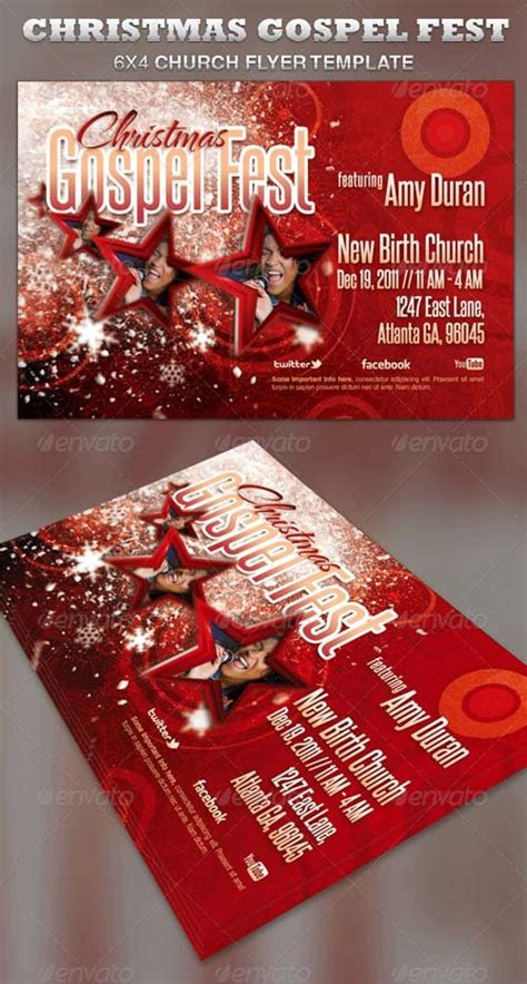 Flyer Templates Graphicriver Christmas Gospel Fest Church Flyer Template Graphicflux Gospel Church Flyer Template