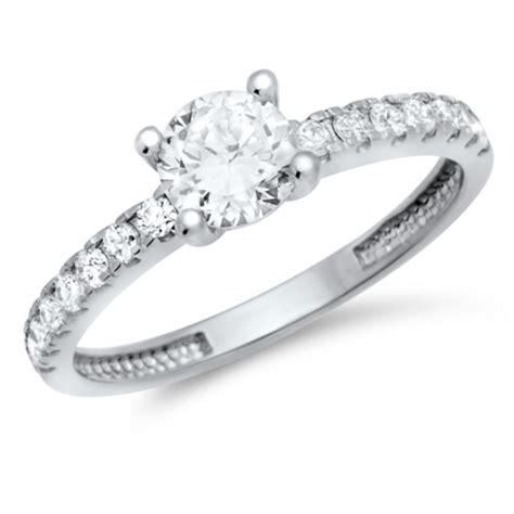 Verlobungsring Schlicht by Verlobungsring 925 Silber Zirkonia Vr0025sl