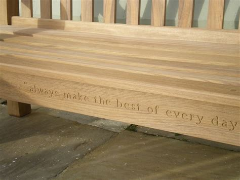 engraved memorial benches 17 best images about pastel gardens on outdoor