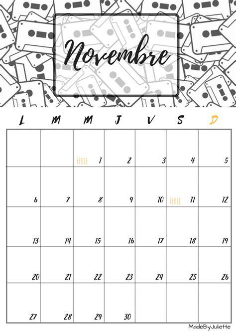 Calendrier De Novembre Calendrier Novembre 2017 224 Imprimer Calendriers