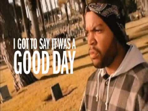 ice cube it was a good day youtube ice cube today was a good day instrumental ringtone
