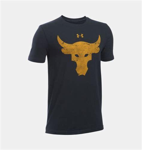T Shirt Armour Project Rock Edition Kode Tsua Iron Carbon Heathe boys ua x project rock brahma bull t shirt armour us