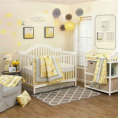yellow nursery bedding yellow and grey nursery bedding
