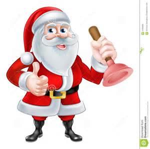 santa plumber stock vector image of cleaner handy home