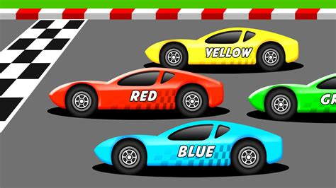 color race learn the colors with racing cars