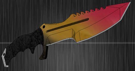 wallpaper craft knife cs go huntsman knife papercraft by silvarruxx on deviantart