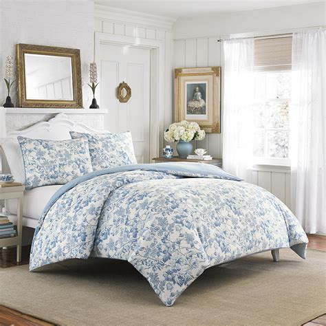 ashley comforters laura ashley brompton sophia blue comforter and duvet set