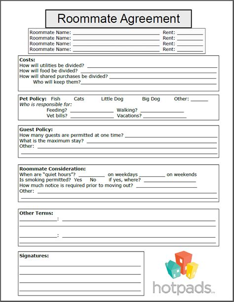 free printable lease agreement for roommates roommate agreement form
