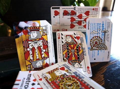 Metro Gift Card - designer recycles discarded metro cards of new york so you can play poker