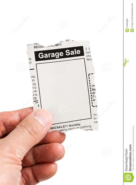 Garage Sale Classified Ad by Garage Sale Royalty Free Stock Images Image 31902009