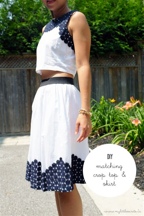 Crop Skirt diy matching cropped top and skirt styledemocracy