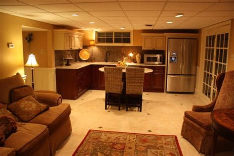 in law suite traditional basement by rta cabinet store