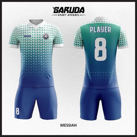 desain kostum seragam futsal printing the glow garuda desain kaos bola futsal messiah biru tosca garuda print
