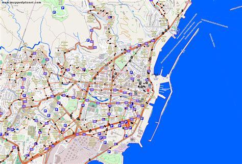 printable map tenerife city maps santa cruz de tenerife