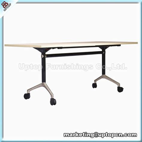 Narrow Conference Table Sp Ft406 Narrow Space Saving Foldable Movable Conference Table Buy Space Saving